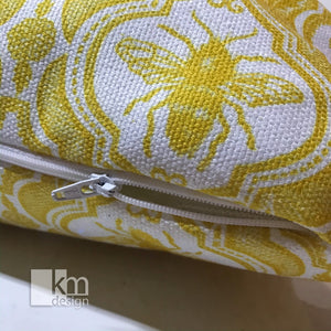 "Pillowcase 18"" - Bee Yellow - Kristine MacGregor - KM Design"