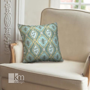 "Pillowcase 18"" - Mint to bee, [product type],handmade - Kristine MacGregor - KM Design - Art - Printmaking"