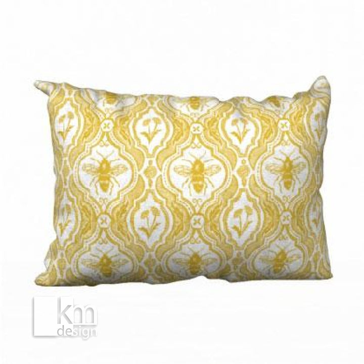 "Pillowcase 20"" x 14"" - Yellow Bee, [product type],handmade - Kristine MacGregor - KM Design - Art - Printmaking"