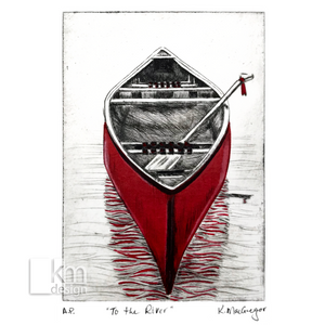 "Red Canoe ""To the River"" - Kristine MacGregor - KM Design"