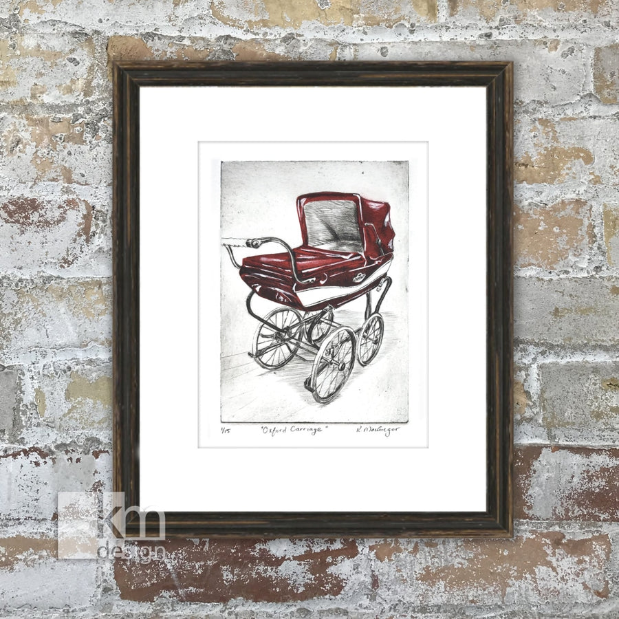 "Red Vintage Carriage ""Oxford Carriage"" - Kristine MacGregor - KM Design"