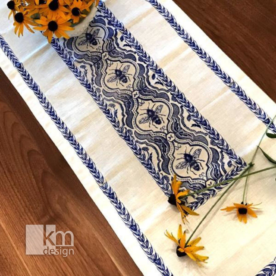 Table Runner - Bee & Wheat - Kristine MacGregor - KM Design