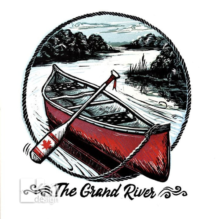 The Grand River, [product type],handmade - Kristine MacGregor - KM Design - Art - Printmaking