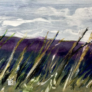 """Windswept Field"" Monotype, [product type],handmade - Kristine MacGregor - KM Design - Art - Printmaking"