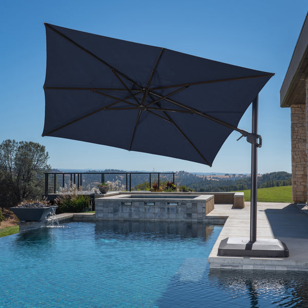 10' Square Aluminum Offset Umbrella