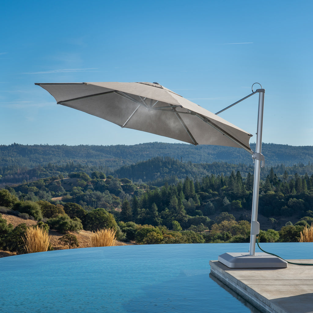 13' Round Misting Offset Umbrella