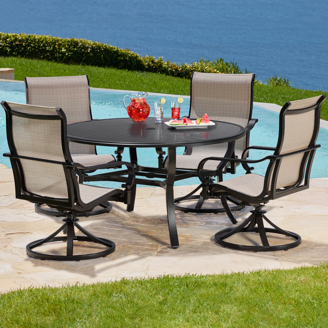 Whitehall 5-Piece Sling Dining Set