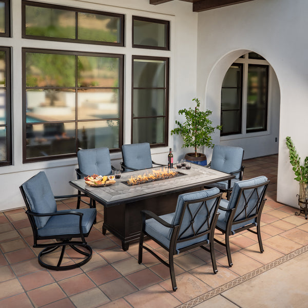 Anita 7-Piece Fire Dining Set