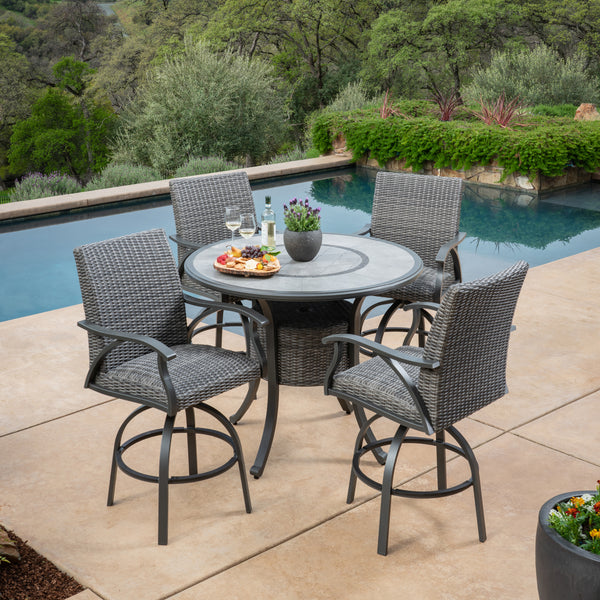 Indigo 5-Piece High Dining Set