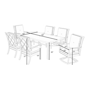 Carnegie 7pc Dining Set