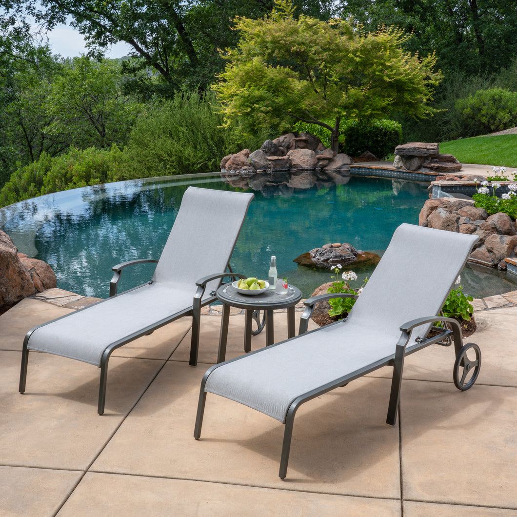 Westgate 3-Piece Sling Chaise Lounge Set