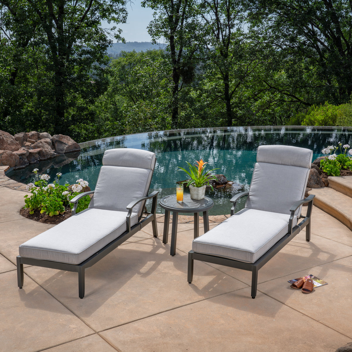 Westgate 3 Piece Cushion Chaise Lounge Set Replacement