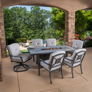 Westgate 7-Piece Cushion Fire Dining Set