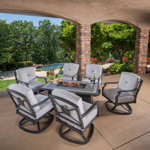 Westgate 7-piece Cushion Fire Deep Seating Set