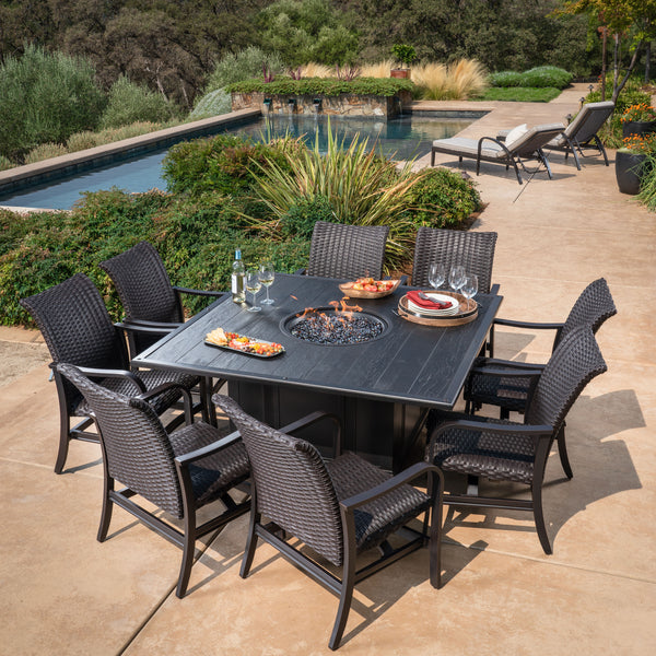 Bellafina 9-Piece Fire Dining Set