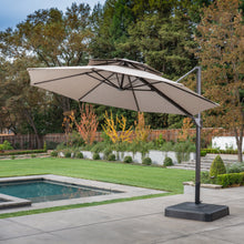 Load image into Gallery viewer, 11' Sunbrella® Round Offset Umbrella - Cast Shale