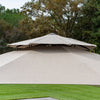11' Sunbrella® Round Offset Umbrella - Cast Shale