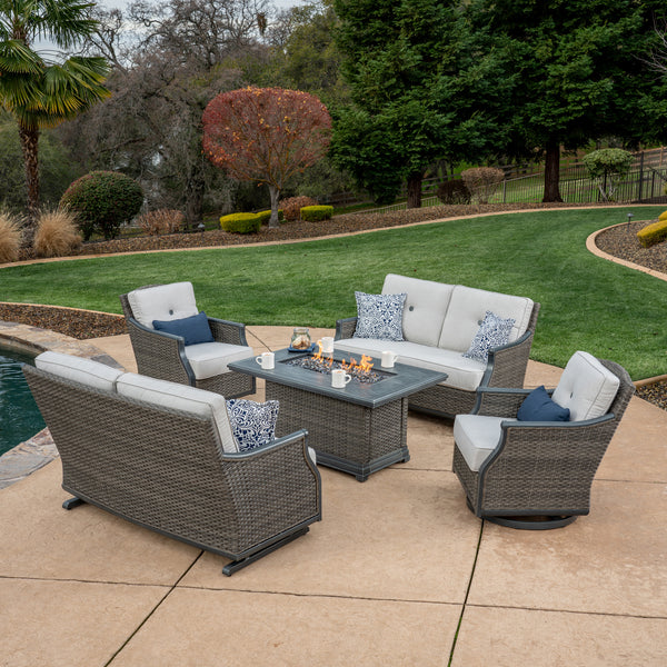 Lago Brisa 5-Piece Fire Deep Seating Set