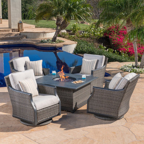 Lago Brisa 5-Piece Fire Chat Set