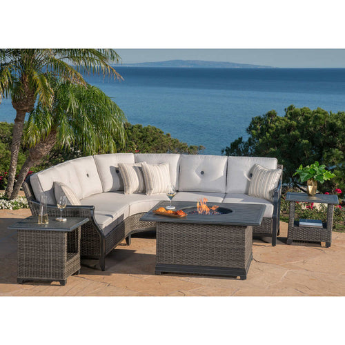 Lago Brisa 6-Piece Fire Sectional Set