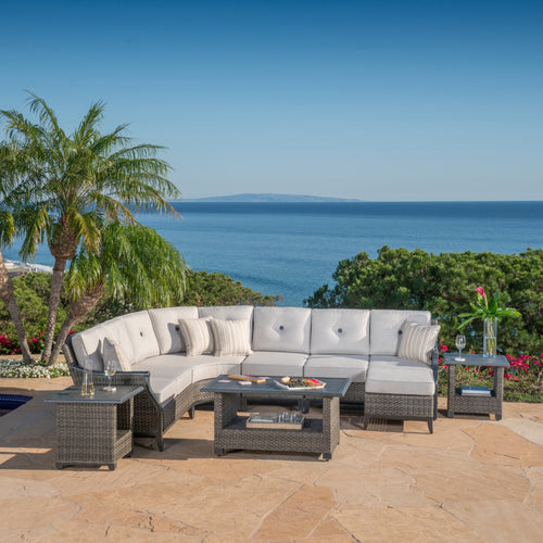 Lago Brisa 8-Piece Sectional Set