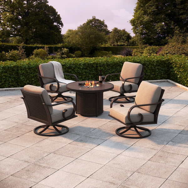 Sorrento 5-Piece Firepit Chat Set