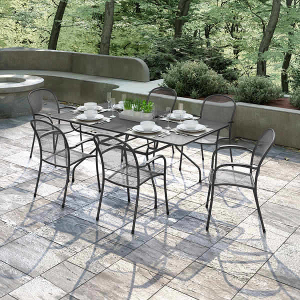 Richmond 7-Piece Commercial Mesh Dining Set
