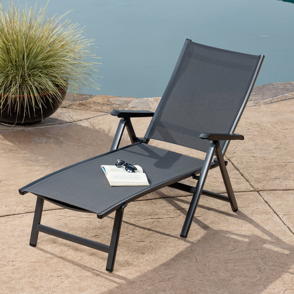 Elements Aluminum Folding Chaise Lounge
