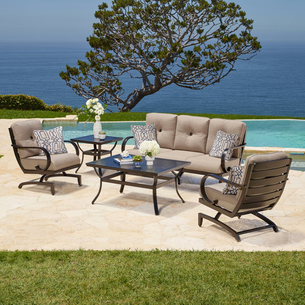 Whitehall 5-Piece Aluminum Deep Seating Set
