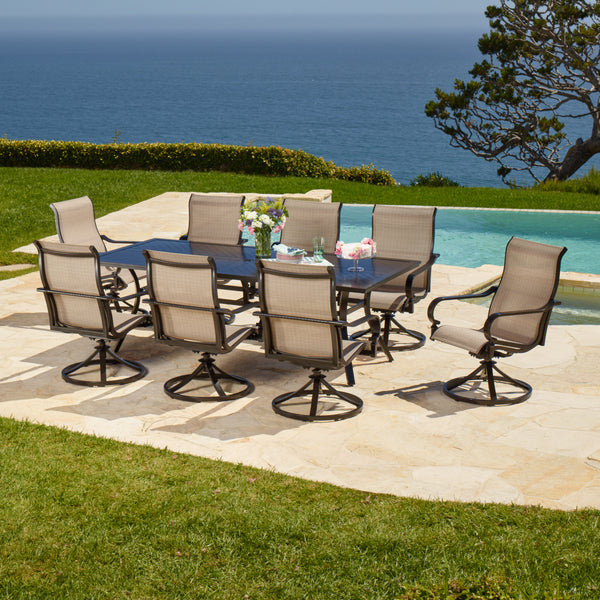Whitehall 9-Piece Sling Dining Set