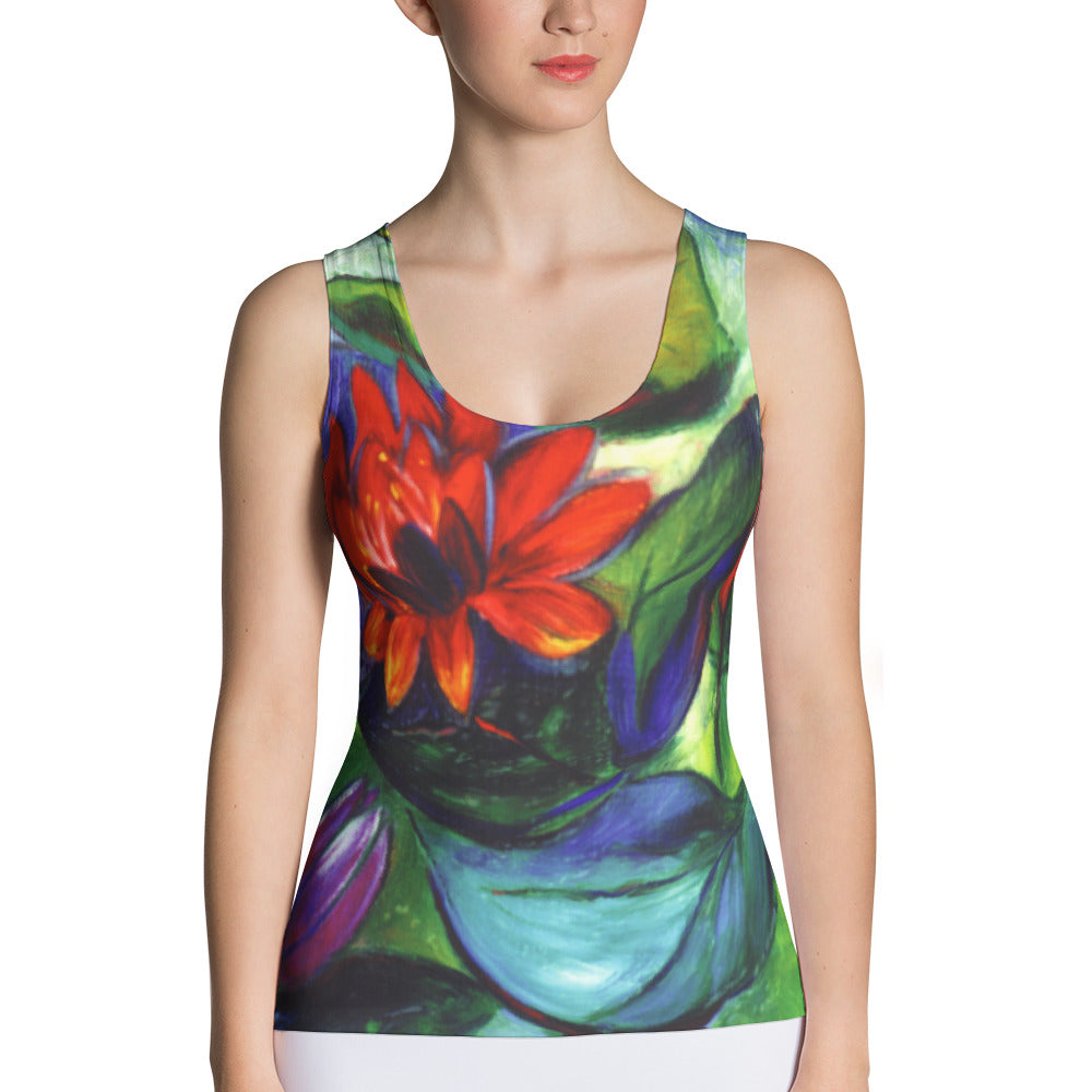 Body Hugging Tank Top – Floating Lotus