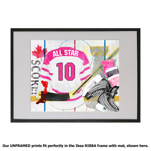 Hockey, Pink on paper