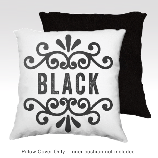 Family Pillow Cover - BLACK