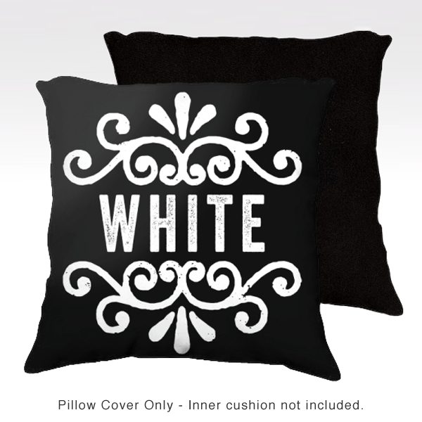 Family Pillow Cover - WHITE