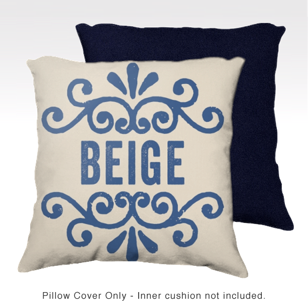 Family Pillow Cover - BEIGE