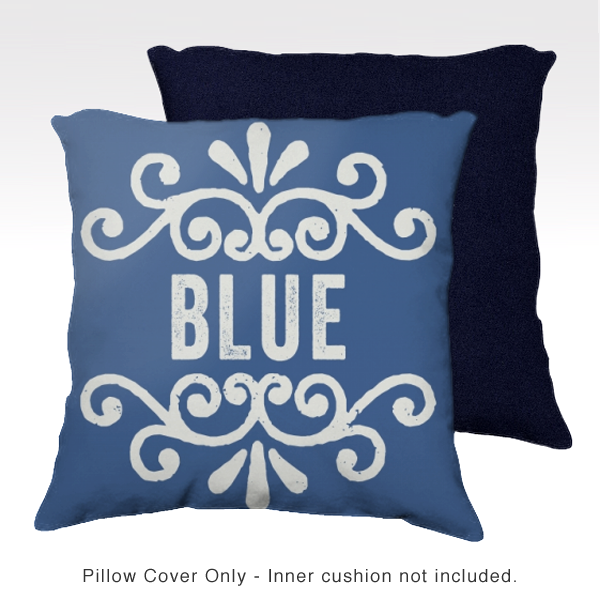 Family Pillow Cover - BLUE