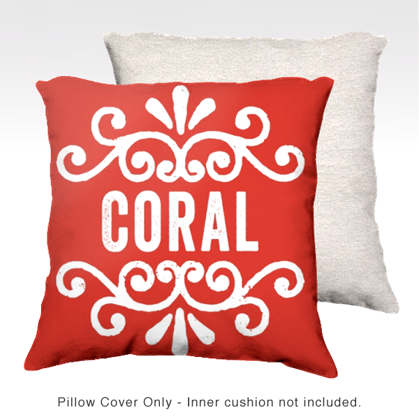 Family Pillow Cover - CORAL
