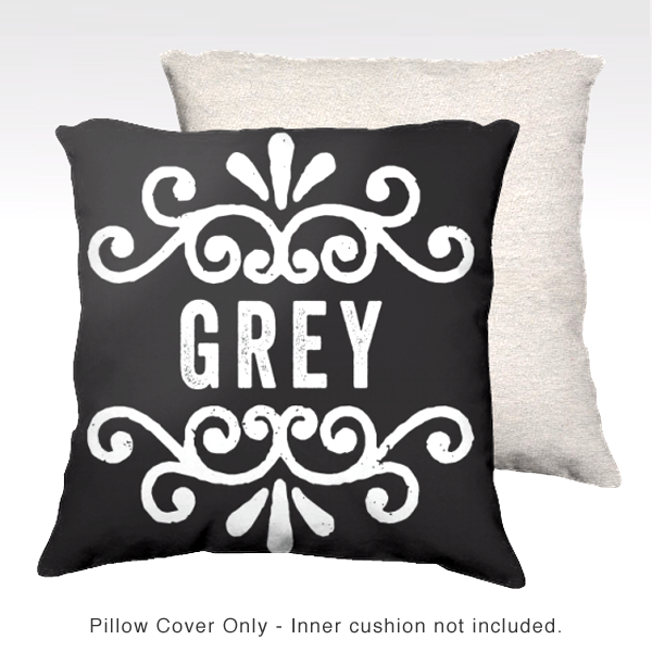 Family Pillow Cover - GREY