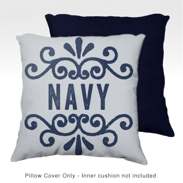 Family Pillow Cover - NAVY