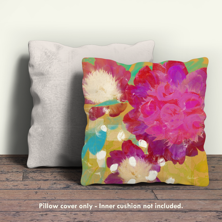 Peonies I Pillow Cover