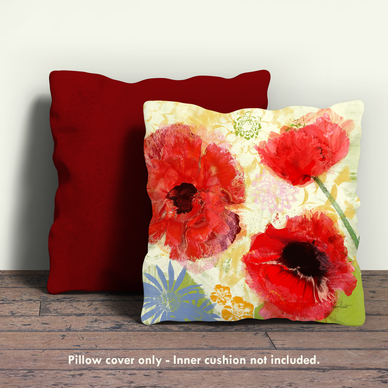 Poppies I Pillow Cover