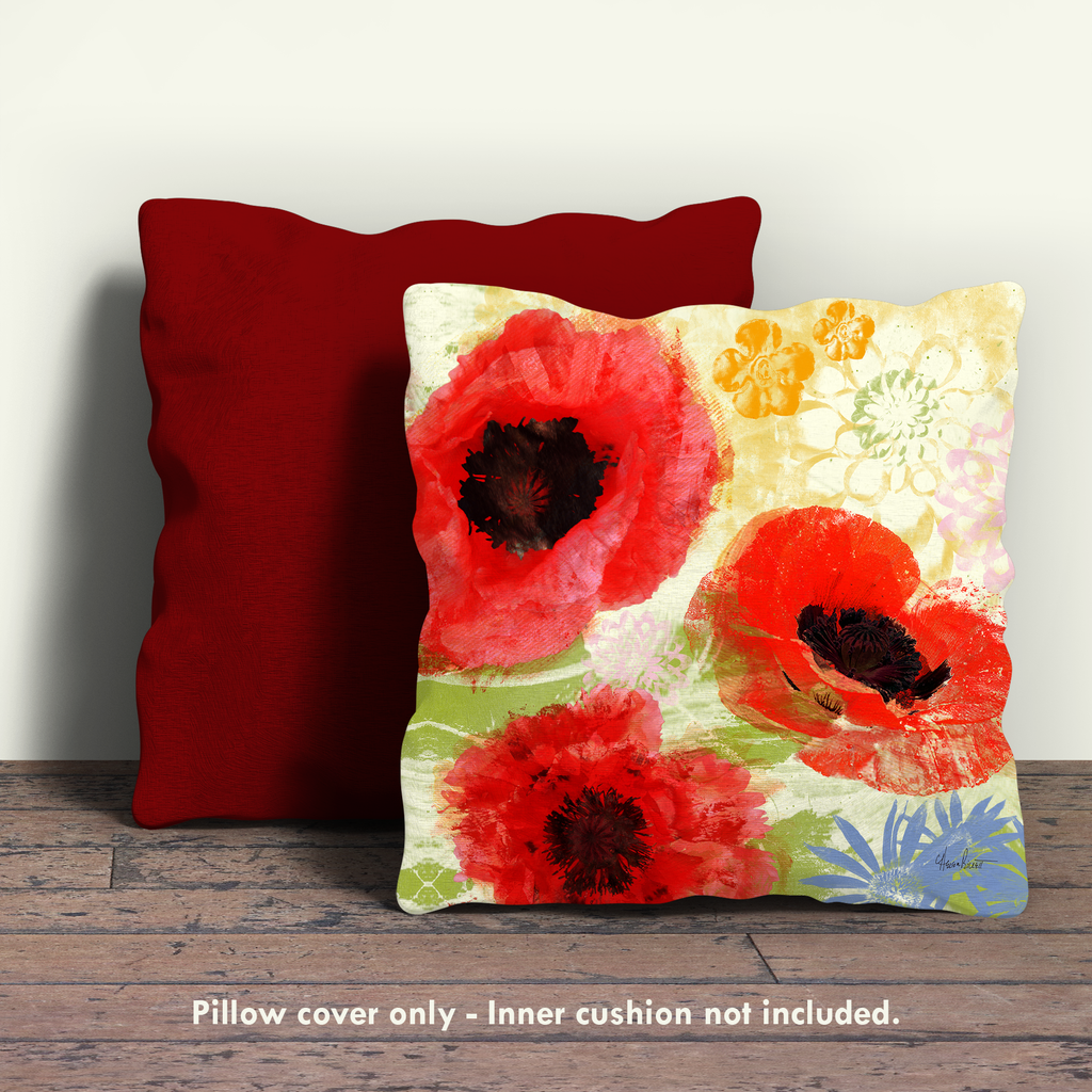 Poppies II Pillow Cover