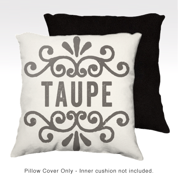 Family Pillow Cover - TAUPE