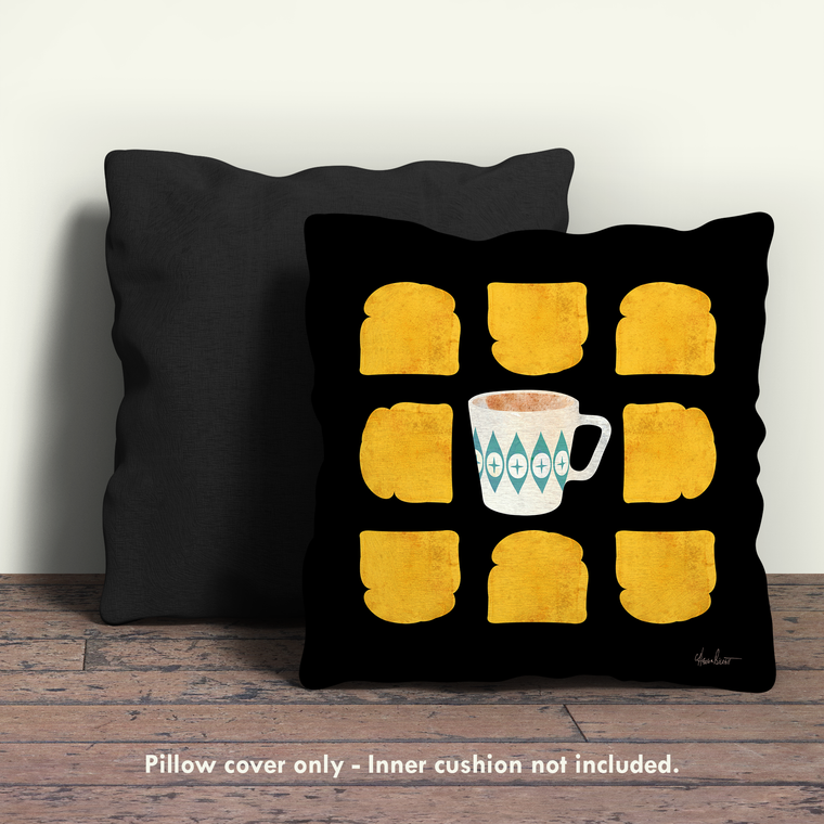 Tea & Toast, Pyrex Pillow Cover