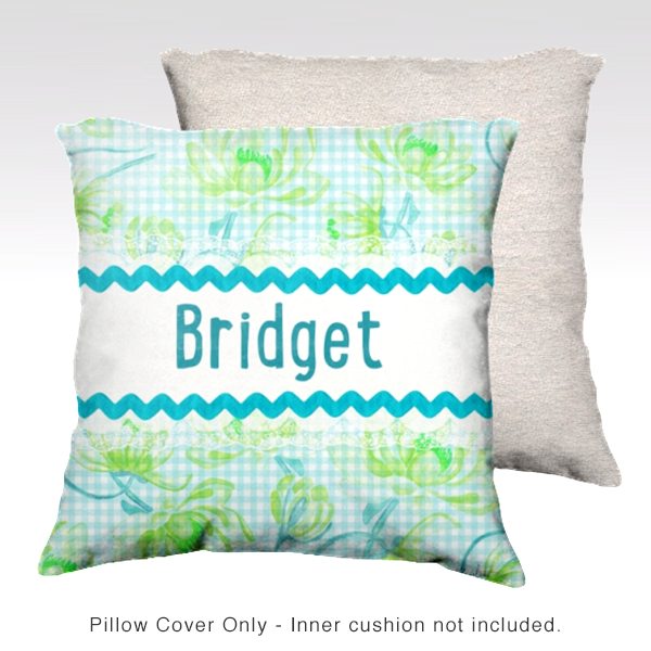 Water Lilies, AQUA Pillow Cover
