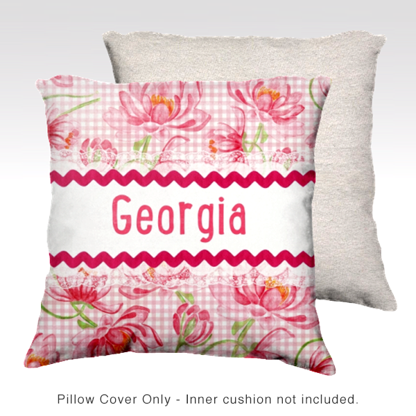 Water Lilies, PINK Pillow Cover