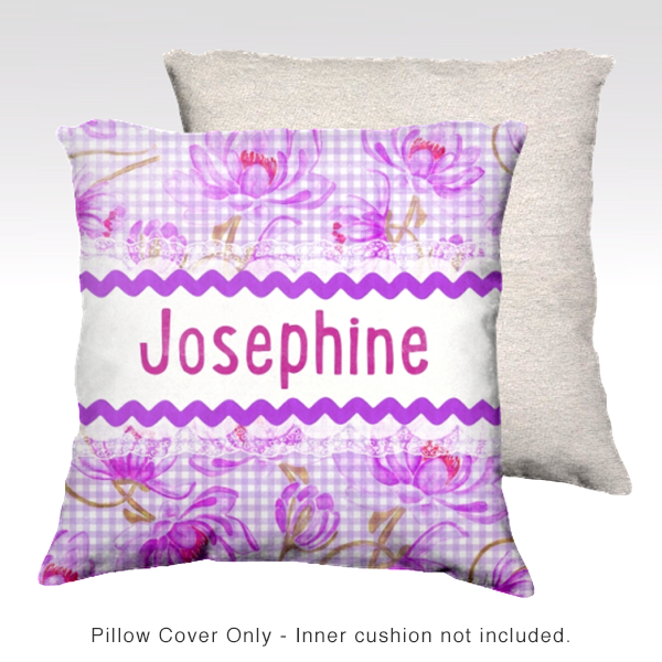 Water Lilies, VIOLET Pillow Cover