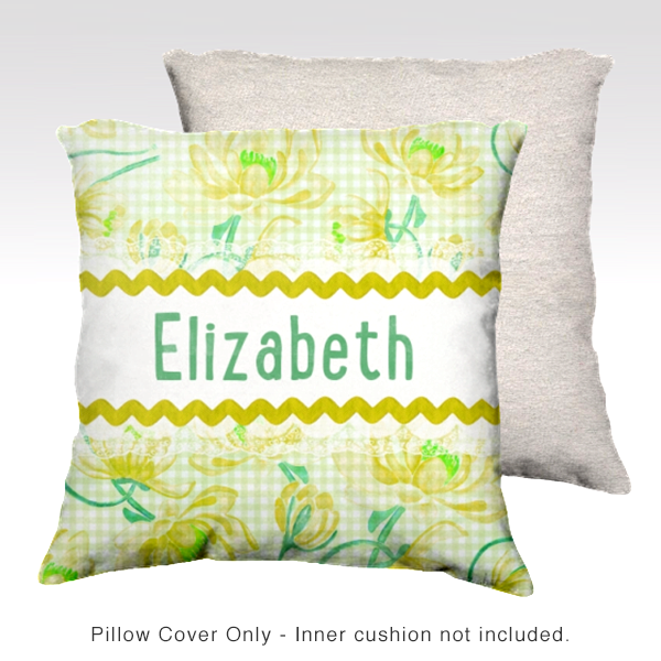 Water Lilies, YELLOW Pillow Cover