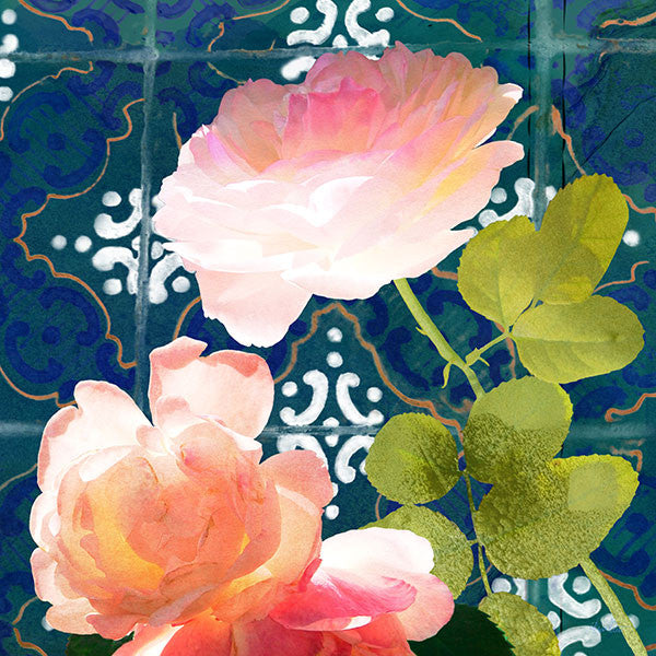 Ravello Roses 01 PRINT ON CANVAS