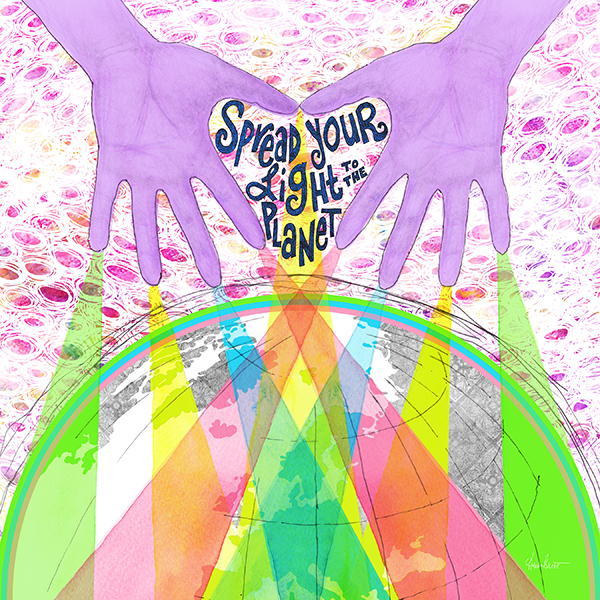 Spread Your Light Pillow Cover